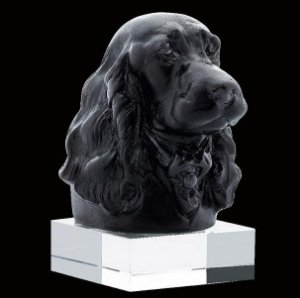 ESCULTURA  DOG DANDYS EDWARD JUNIOR BLACK POR JEAN FRANÇOIS LEROY CRISTALERIA DAUM