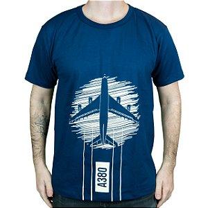 Camiseta A380 Azul - Aviões e Músicas