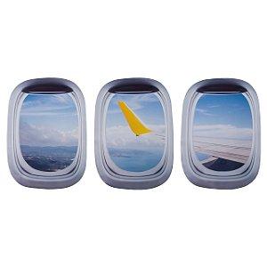 Kit de Adesivos Janela de avião 1 - Aviões e Músicas