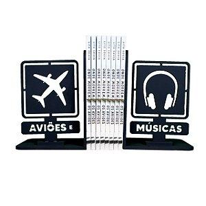 Apoio de livros AeM - Aviões e Músicas