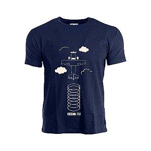 Camiseta Infantil C172 Aviões e Músicas