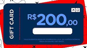Cartão Presente 200 - Aviões e Músicas