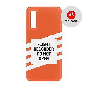 Capa para Smartphone Flight Recorder - Motorola - Aviões e Músicas