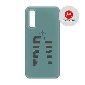 Capa para Smartphone Trip Verde Montanha - Motorola - Aviões e Músicas