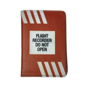 Porta Passaporte Flight Recorder - Aviões e Músicas