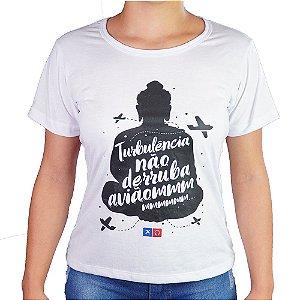 Camiseta Feminina Como o Avião Realmente Voa Baby Look