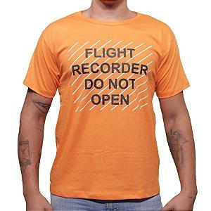 Camiseta Flight Recorder - Laranja Aviões e Músicas