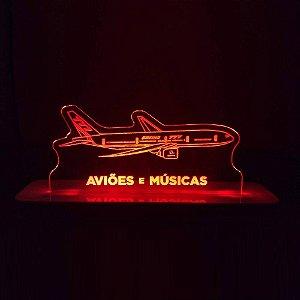 Luminária Boeing 777 Aviões e Músicas