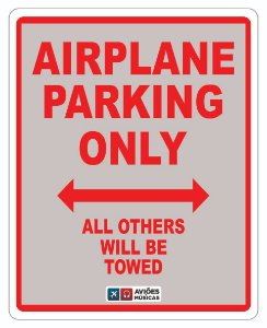 Adesivo Airplane Parking Aviões e Músicas