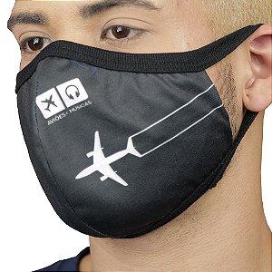 Máscara Contrail Aviões e Músicas