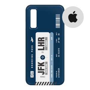 Capa para Smartphone Boarding Pass Personalizável Azul - Apple