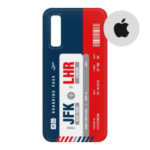 Capa para Smartphone Boarding Pass Personalizável Multicolor - Apple