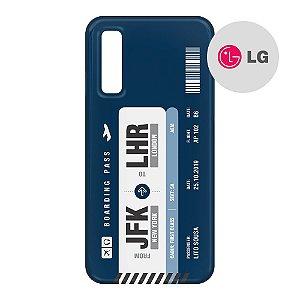 Capa para Smartphone Boarding Pass Personalizável Azul - LG Aviões e Músicas