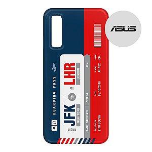 Capa para Smartphone Boarding Pass Personalizável Multicolor - Asus - Aviões e Músicas