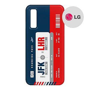 Capa para Smartphone Boarding Pass Personalizável Multicolor - LG Aviões e Músicas