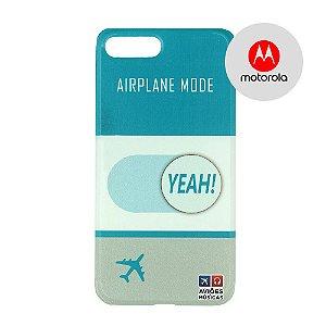 Capa para Smartphone Airplane Mode Yeah! - Motorola - Aviões e Músicas