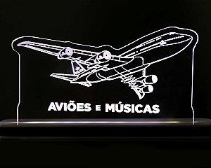 Luminária Boeing 747-800  Aviões e Músicas