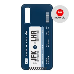 Capa para Smartphone Boarding Pass Personalizável Azul - Motorola