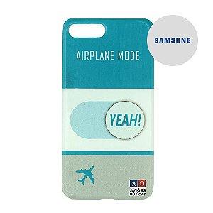 Capa para Smartphone Airplane Mode Yeah! - Samsung - Aviões e Músicas