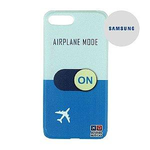 Capa para Smartphone Airplane Mode On - Samsung - Aviões e Músicas