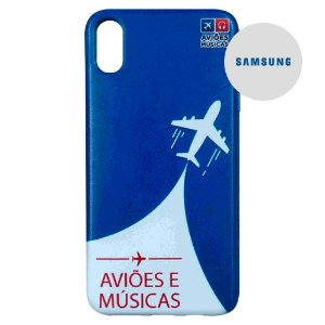 Capa para Smartphone Aviões e Músicas - Samsung
