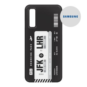 Capa para Smartphone Boarding Pass Personalizável Preta - Samsung