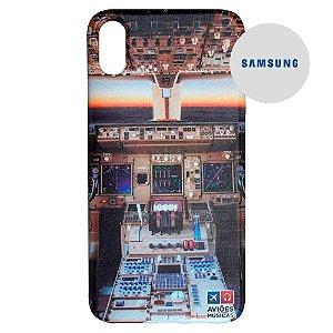 Capa para Smartphone Cabine em Voo - Samsung - Aviões e Músicas