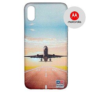 Capa para Smartphone Decolagem - Motorola - Aviões e Músicas