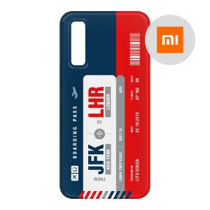 Capa para Smartphone Boarding Pass Personalizável Multicolor - Xiaomi - Aviões e Músicas