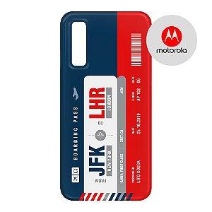 Capa para Smartphone Boarding Pass Personalizável Multicolor  - Motorola