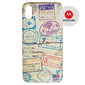 Capa para Smartphone Passaporte Carimbado 1 Personalizável - Motorola