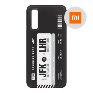 Capa para Smartphone Boarding Pass Personalizável Preta - Xiaomi