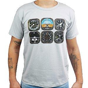 Camiseta Instrumentos Aviões e Músicas