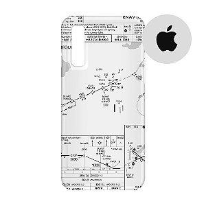 Capa para Smartphone Carta de voo - Apple