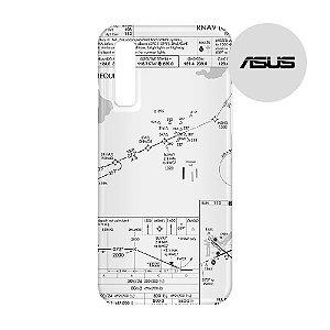 Capa para Smartphone Carta de voo - Asus - Aviões e Músicas