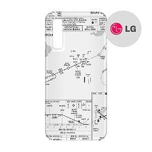 Capa para Smartphone Carta de voo - LG Aviões e Músicas