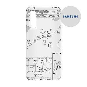 Capa para Smartphone Carta de voo - Samsung - Aviões e Músicas