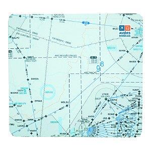 Mouse Pad Carta de voo 3 Aviões e Músicas