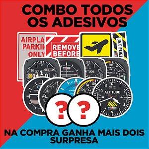 Kit Todos Adesivos + Brindes