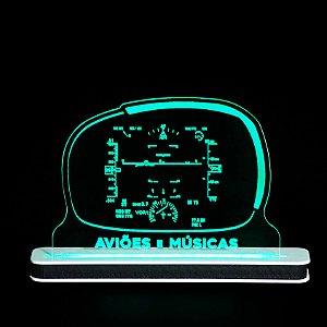 Luminária HUD Aviões e Músicas