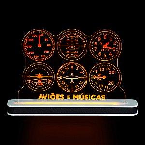 Luminária Instrumentos Aviões e Músicas