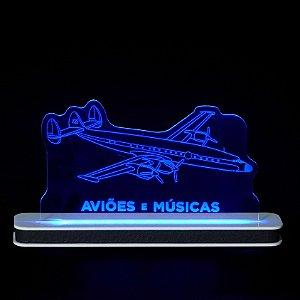 Luminária Lockheed Constellation Aviões e Músicas