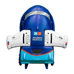 Mochila Avião C/Rodas A&M azul