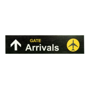 Kit com 2 Painéis GATE Arrivals/ Departures