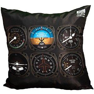 Almofada Instrumentos Aviões e Músicas