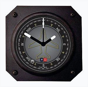 Relógio de mesa/parede - Indicador de Proa Aviões e Músicas