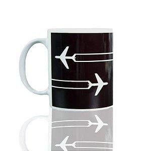Caneca Contrail Aviões e Músicas