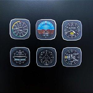 Ímã Kit de Instrumentos - Aviões e Músicas