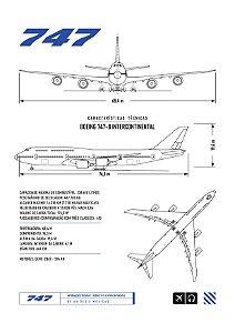 Pôster 747 Aviões e Músicas Sem Moldura