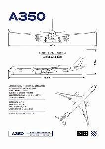 Pôster A350 Aviões e Músicas Sem Moldura